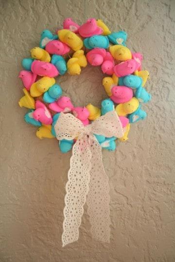 Peep Easter Wreath Tutorial
