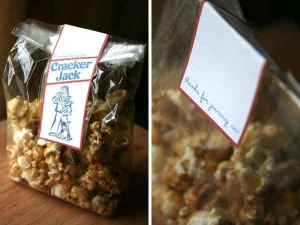 Homemade Cracker Jack Labels