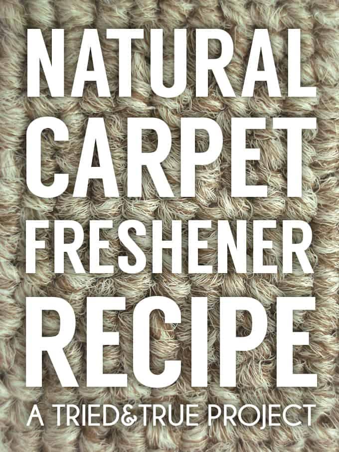 Natural Carpet Freshener Recipe
