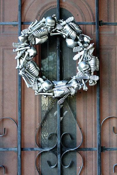 Skeleton Halloween Wreath - Tried & True