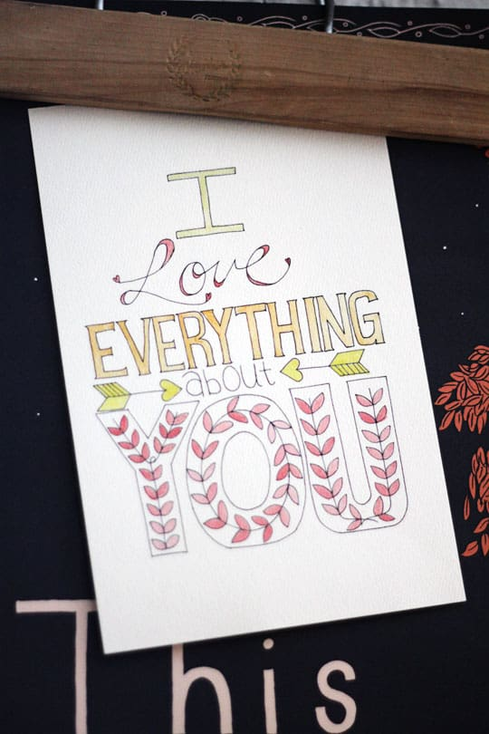 I Love Everything About You Print - Tried & True