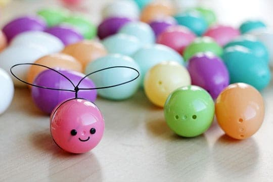 Plastic Easter Egg Bees - Easy craft to make!