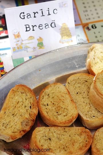 Busy Town Birthday Bash - Garlic Bread