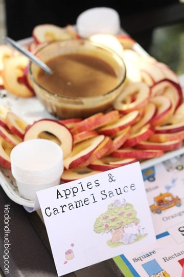 Busy Town Birthday Bash - Apples & Sauce