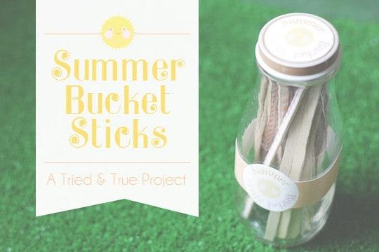Summer Bucket Sticks Tutorial from Tried & True Blog