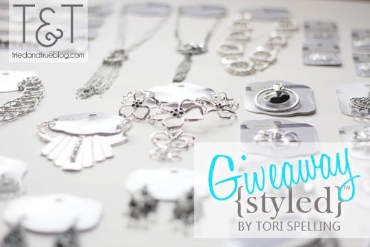 Visit Tried & True to enter the Styled By Tori Spelling Giveaway! triedandtrueblog.com