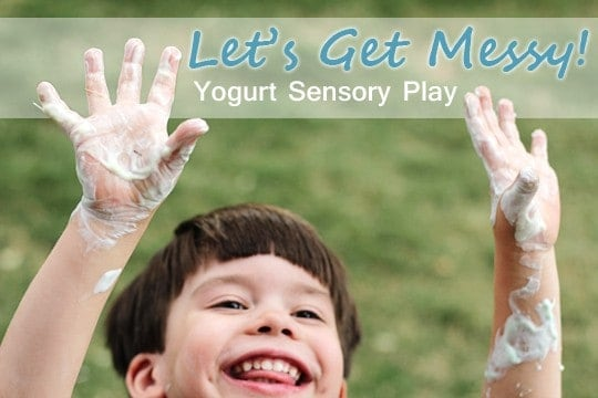 Yogurt Sensory Play