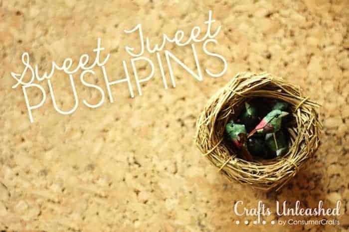 Sweet Tweet Bird Pushpins
