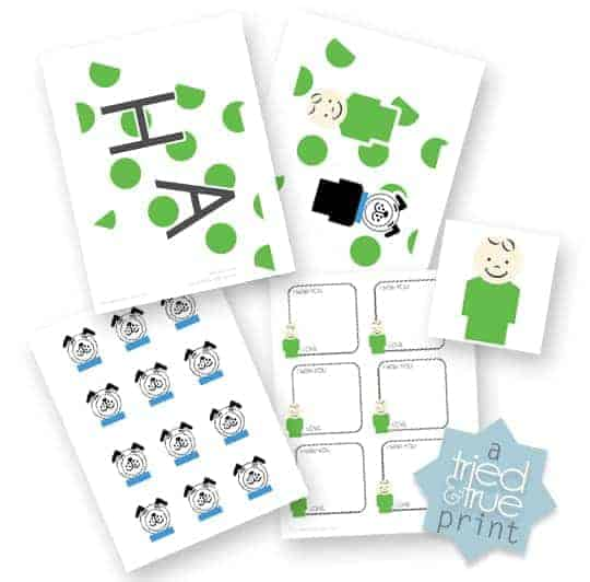 Little People Birthday Party Free Printables from Tried & True Blog