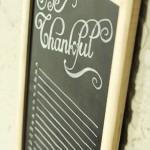 Be Thankful Chalkboard Gratitude Calendar from Tried & True