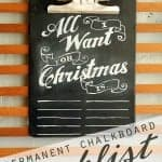 Permanent Chalkboard Wishlist from Tried & True for Ucreate