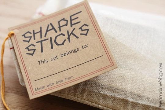 Shape Sticks - Stocking Stuffer from Tried & True