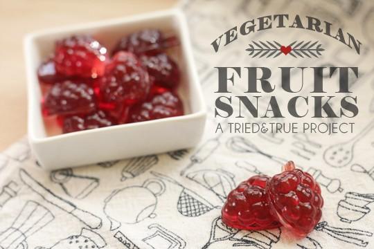 Vegetarian Fruit Snacks | A Tried & True Project