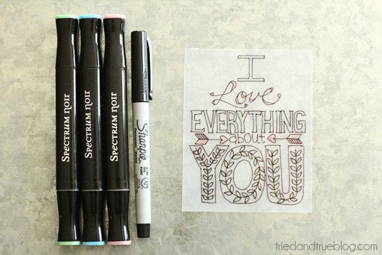 """A Tried & True Project: """"I Love Everything"""" Free Printable Magnet"""