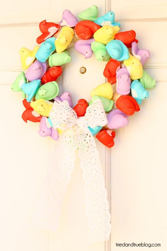 Peep Wreath Tutorial from Tried & True