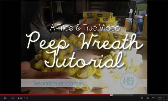A Tried & True Video: Peep Wreath
