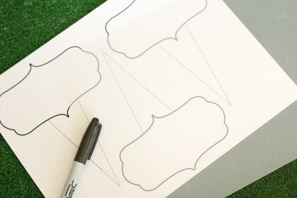 Reusable Chalk Plant Markers