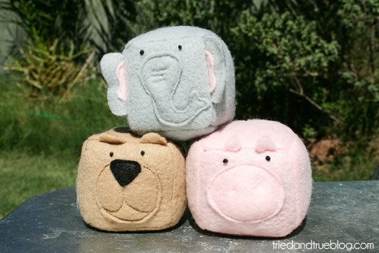 Animal Bean Bag tutorial to delight your kids!