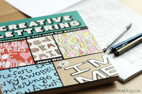 Creative Lettering from Lark Crafts reviewed by Tried & True