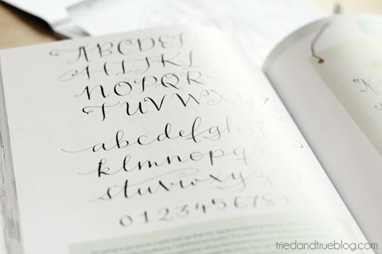 Alphabet sample from Creative Lettering
