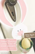 """""""Some Bunny Loves You"""" Door Hanger"""