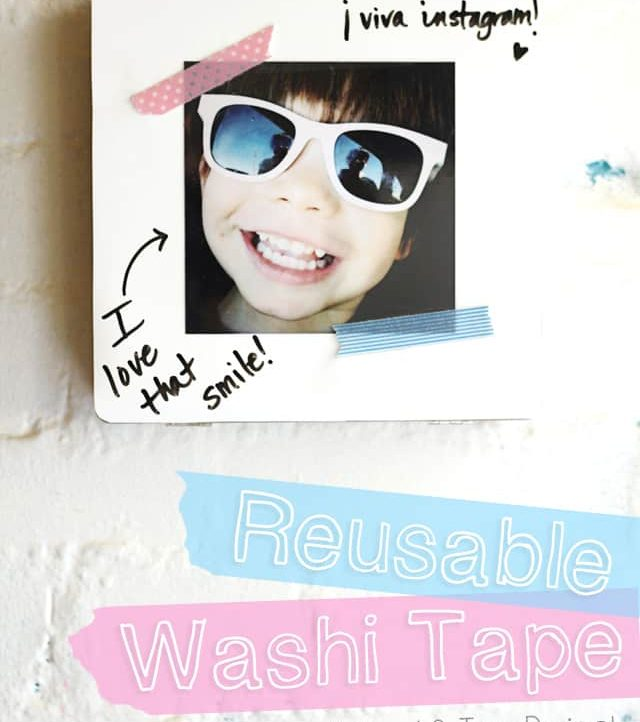 Make Reusable Washi Tape strips that you can use over and over!