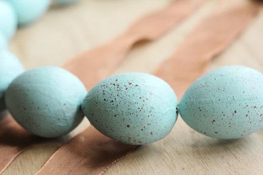 Speckled Egg Wreath - Closeup