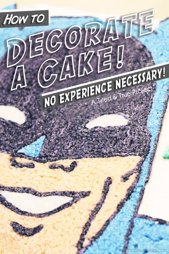How to decorate a cake with no experience necessary! | A Tried & True Project