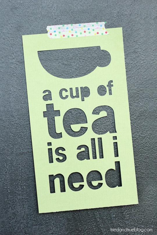 Cup of Tea Free Printable - Hang