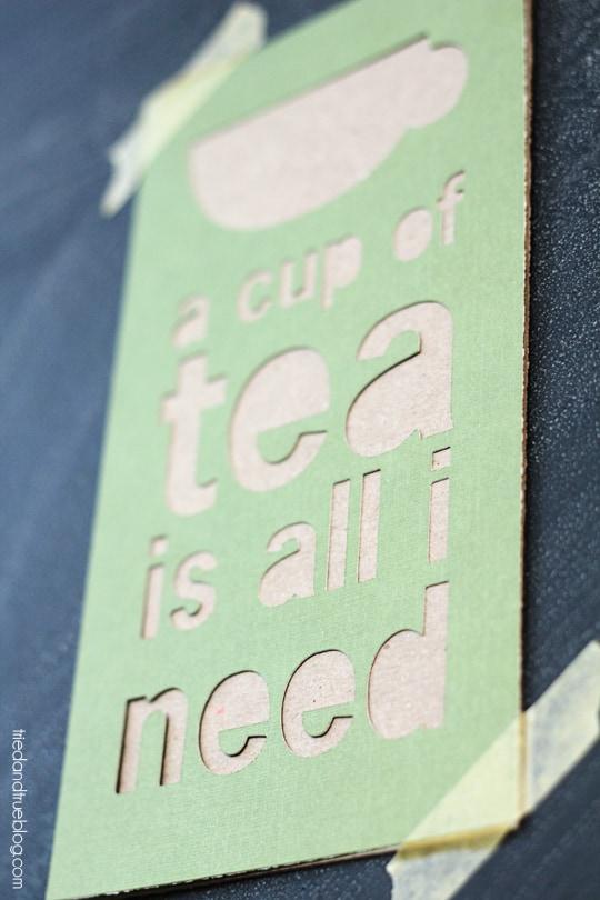 Cup of Tea Free Printable - Alt