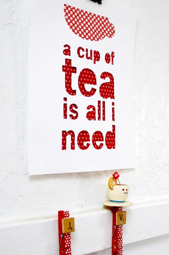 Cup of Tea Free Printable - Options