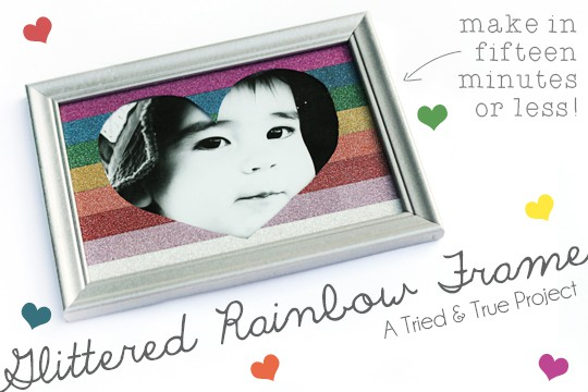 Make this super cute Glittered Rainbow Frame in under 15 minutes!