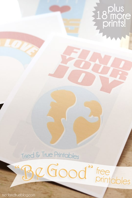 """""""Be Good"""" Series - Free Printables from Tried & True"""