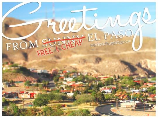 Free & Cheap Checklist for El Paso Activities