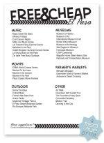 Free & Cheap El Paso Checklist