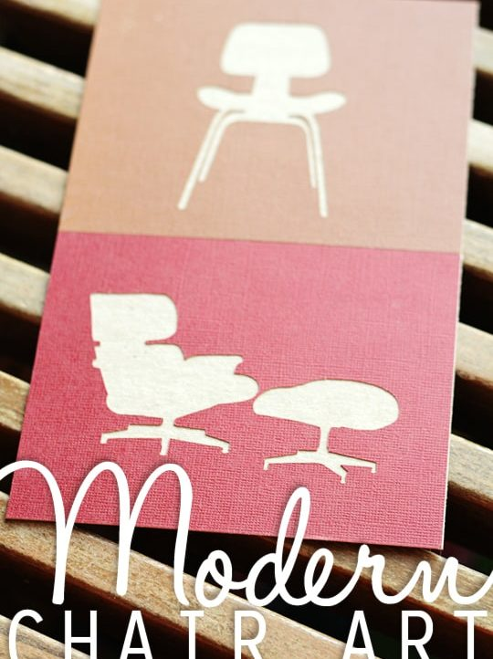 Share your love for midcentruy modern chairs with this free Silhouette file from Tried & True