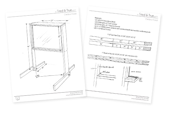 Outdoor Easel Tutorial & Plans: Download Plans