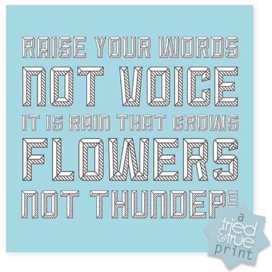 Raise Your Words - Blue