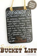 Reusable Chalkboard Summer Bucket List