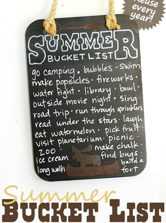 A Summer Bucket List you can use year after year!