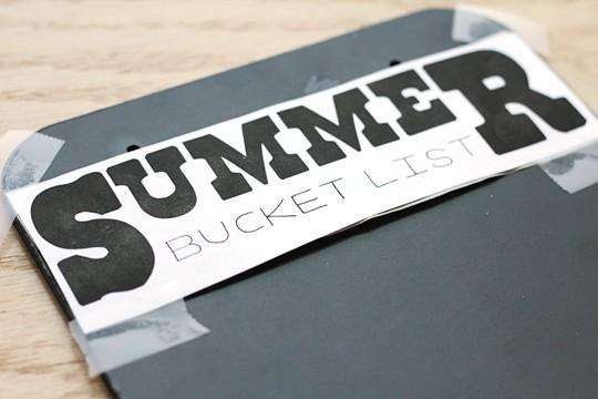 Reusable Summer Bucket List