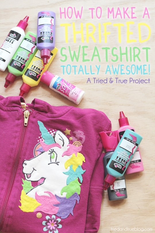 How to Make Over a Thrifted Sweatshirt: A Tried & True Project