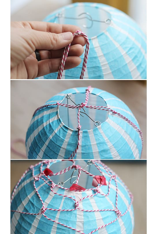 How to make a Vintage Hot Air Balloon - String