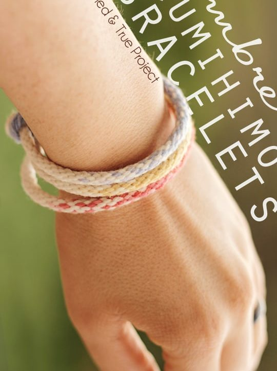 Make some fun stylish Ombre Kumihimo Bracelets this Summer!