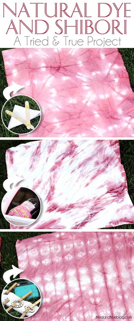 Make a beautiful Shibori pattern with Hibiscus flowers!