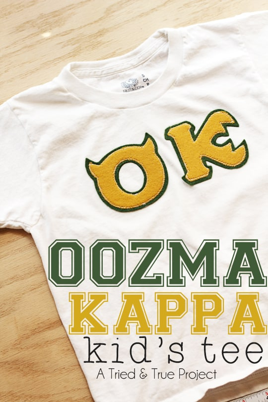 Make a Monsters University Oozma Kappa T-shirt!