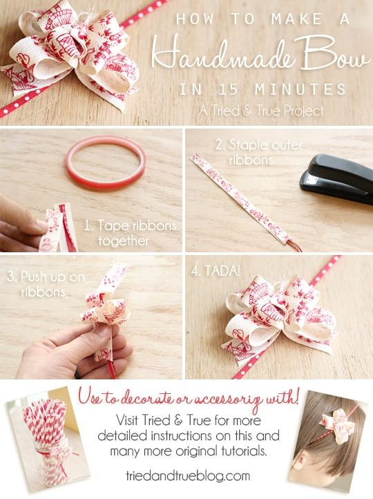 How to make a bow for gift wrapping or wearing!