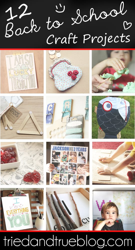 Celebrate learning with these fun Back To School Craft Projects from Tried & True!