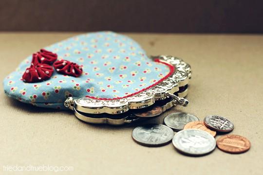 Vintage Coin Purse - Coins