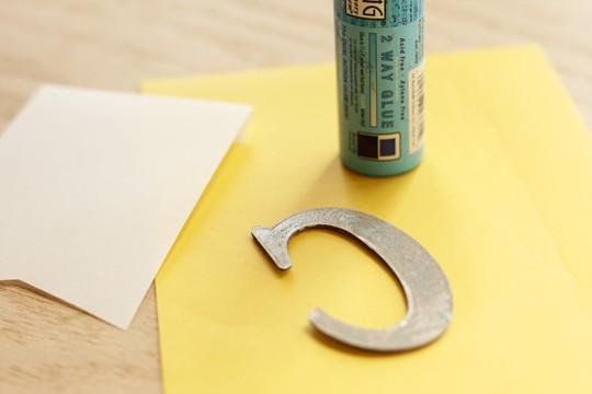 Congrats Banner Card - Glue